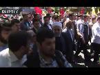 صوت الإمارات - الرئيس الإيراني حسن روحاني ينضم لمسيرة المتظاهرين في يوم القدس العالمي
