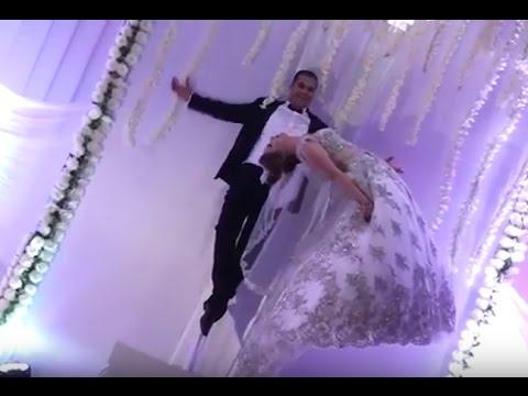 صوت الإمارات - شاهد ساحر تونسي يطير بعروسه في حفلة الزفاف
