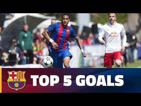 صوت الإمارات - بالفيديو أجمل 5 أهداف بتوقيع نجوم أكاديمية برشلونة الماسية
