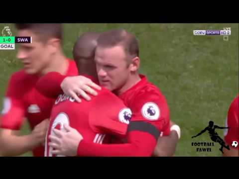 أهداف مانشستر يونايتد وسوانزي سيتي