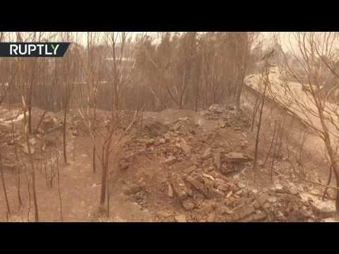 صوت الإمارات - شاهد حجم الدمار الذي سببته حرائق البرتغال