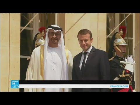 صوت الإمارات - شاهد ماذا بحث ولي عهد أبو ظبي مع الرئيس الفرنسي ماكرون