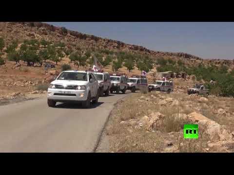 صوت الإمارات - شاهد لحظة خروج مسلحي سرايا أهل الشام من جرود عرسال