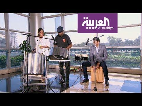 صوت الإمارات - شاهد مقدما صباح العربية يعزفان علي الدرامز على الهواء مباشرة
