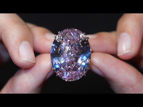 صوت الإمارات - شاهد هذا هو سعر أكبر حجر الماس وردي يُباع في مزاد