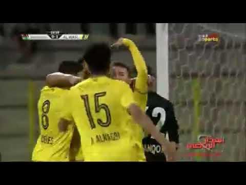 شاهد أهداف مباراة الوصل وشباب أهلي دبي