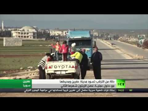 شاهد قوات شعبية موالية لدمشق تتجه إلى عفرين