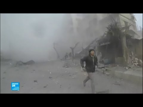 شاهد  جهنم على الأرض حال الغوطة الشرقية بعد أيام من القصف
