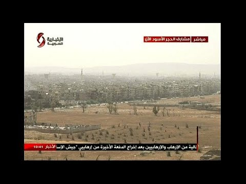 شاهد الطيران السوري يقصف مواقع مسلحين