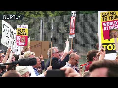 شاهدمظاهرات في إنجلترا ضد زيارة ترامب