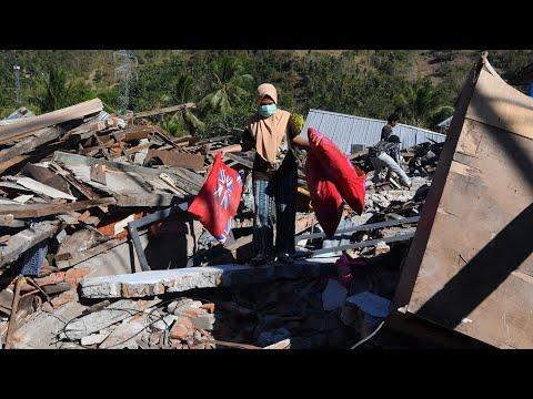 شاهد صعوبة الوصول إلى المناطق الجبلية بعد زلزال