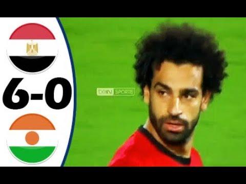 شاهد ملخص مباراة منتخبي مصر والنيجر