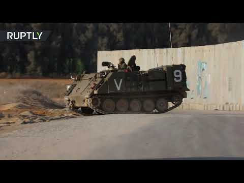 شاهد تحرُّكات الدبابات الإسرائيلىية على حدود غزة