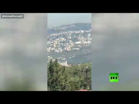 شاهد الجيش الأردني يساهم في إخماد حرائق لبنان