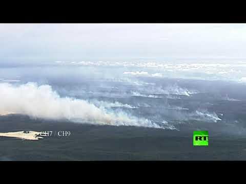 شاهد لقطات مُثيرة من حرائق الغابات في أستراليا