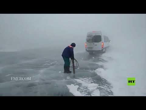 شاهد عاصفة ثلجية كبيرة تضرب إركوتسك الروسية