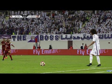 بالفيديو  أهداف مباراة الوحدة والعين في دوري الخليج العربي
