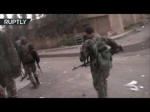 صوت الإمارات - شاهد تواصل الاشتباكات العنيفة في وادي بردى