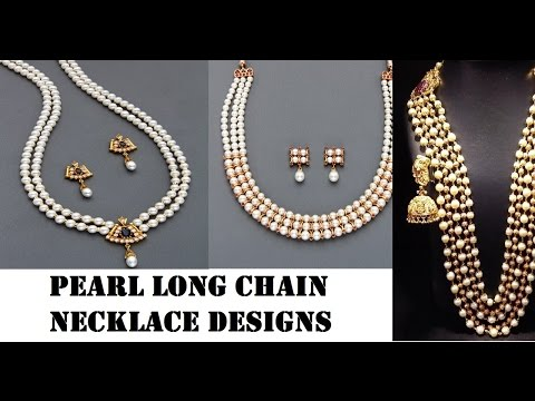 pearl long chain and necklace
