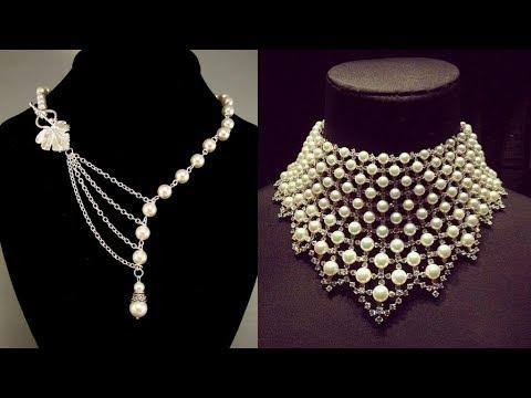 unique pearl necklace designs