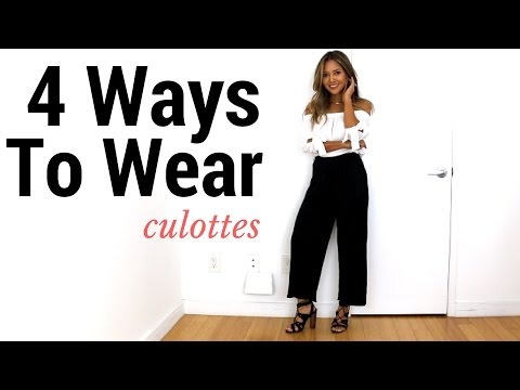 culottes how to style outfit ideaslookbook