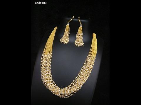 pearl mala south indian jewellery designs