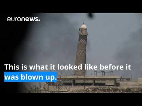 drone captures ruins of landmark