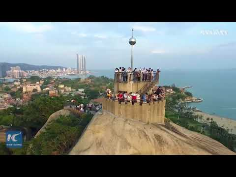 aerial footage shows stunning beauty of xiamen