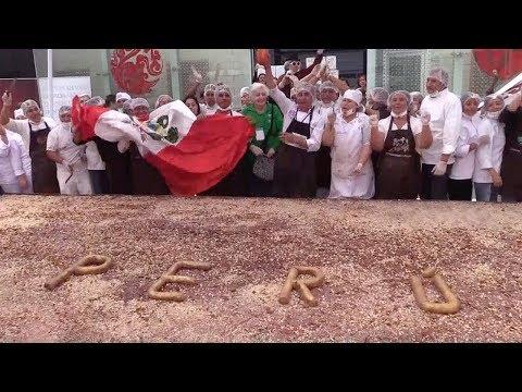 peruvian pastry chefs make worlds largest black chocolate
