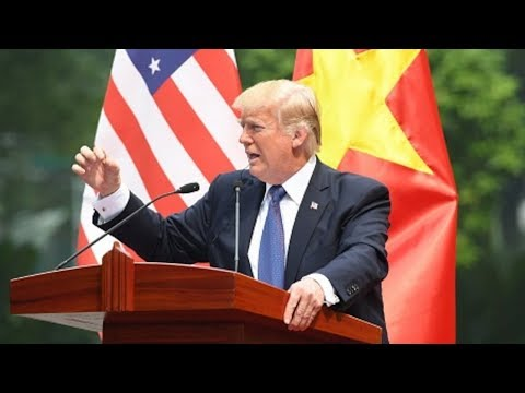 president trump knocks his vietnam press conference out