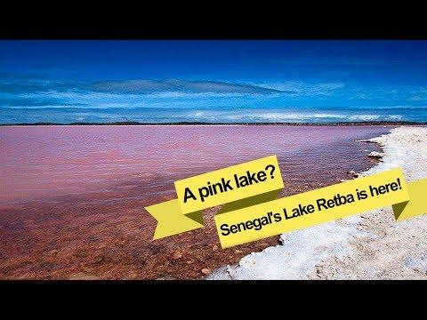 a pink lake senegal's lake retba is here