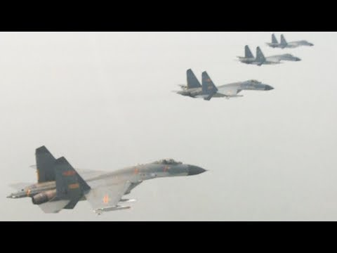 pla air brigade conducts confrontation drill