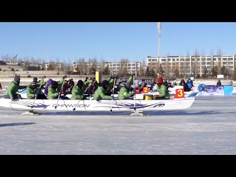 worlds first ice dragon boat championship opens in north china