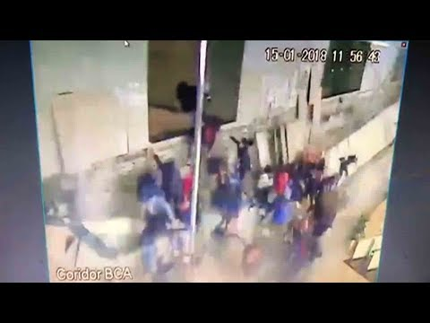 watch shocking moment of floor collapse at jakarta stock exchange