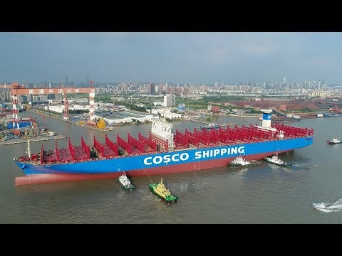 chinas first 20000 teu container ship is ready for operation