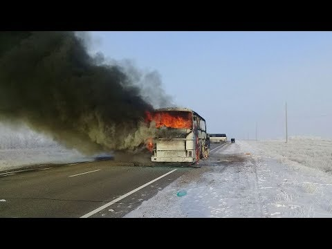 breaking at least 52 killed in a bus fire in kazakhstan on thursday morning
