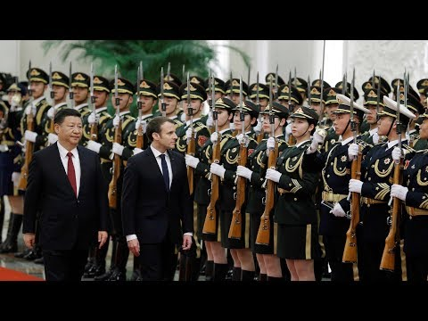 xi holds welcome ceremony for french president