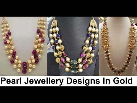 pearl jewellery designs