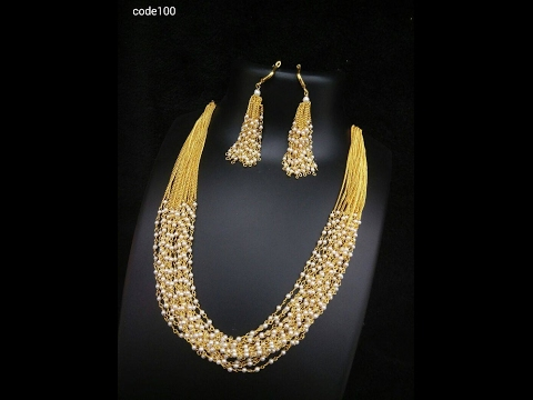 pearl mala south indian jewellery designs