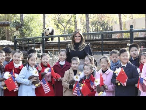 us first lady melania trump visits beijing