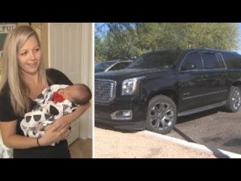 woman delivers baby while driving herself