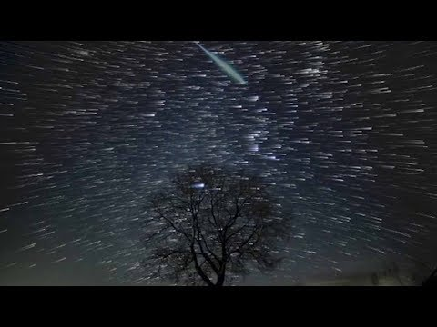 'magical' geminid meteor shower captured