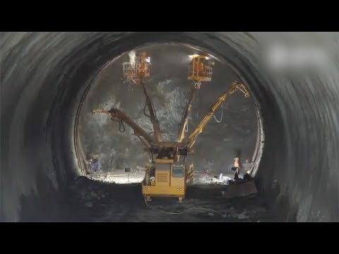 in 3 minutes how china builds a highspeed railway tunnel