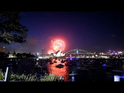 fireworks erupt for new year