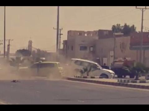 صوت الإمارات - شاهد لحظة تعرض موكب أمير الرياض لحادث مروري