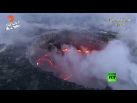 صوت الإمارات - بالفيديو انهيار جرف بحري إثر تدفق الحمم البركانية في جزر هاواي الأميركية