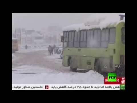 صوت الإمارات - بالفيديو الثلوج الكثيفة تغطي جمهورية إيران