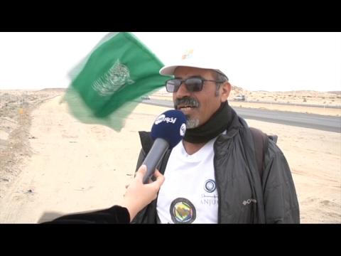 صوت الإمارات - الرحالة السعودي القحطاني يصل إلى مشارف الرياض