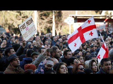 صوت الإمارات - شاهد احتجاجات في جورجيا لمساندةً قناة معارِضة