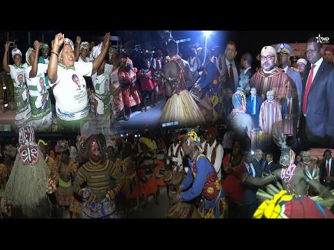 صوت الإمارات - شاهد محمد السادس يستمتع بالرقصات والإيقاعات الزامبية